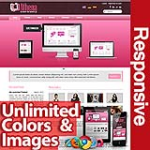 Athena Pink - Unlimited Colors, Images, Layouts - 5 Free Responsive Modules - Responsive Skin Mobile